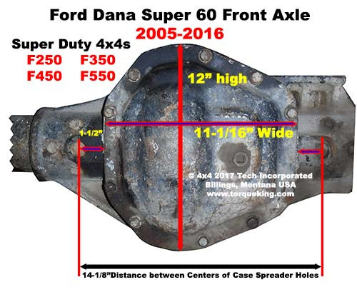 Ford Dana Super 60 Front Axle ID IDN-118