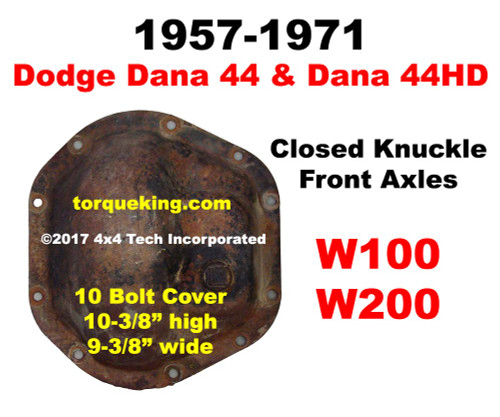 ID a 1957-1971 Dodge Dana 44 Closed Knuckle Front Axle IDN-132