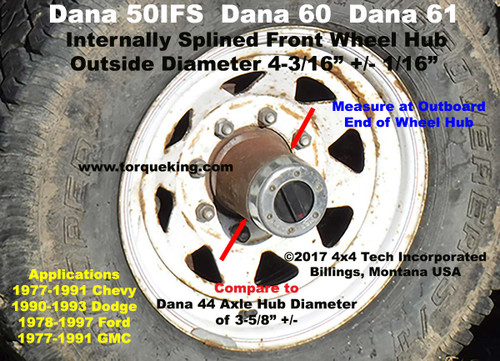 Ford Dana 50IFS Wheel Hub ID