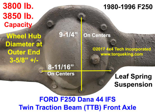Ford F250 Dana 44IFS Twin Traction Beam Identification