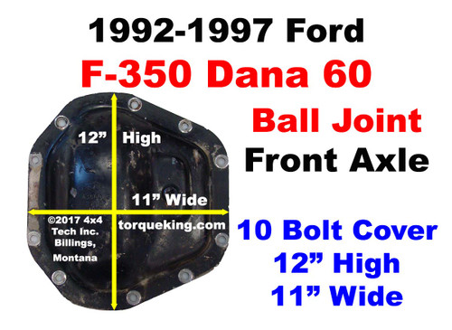 1992-1997 Ford F350 Dana 60 Front Axle Identification IDN-138