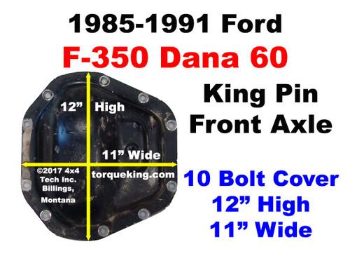 1985-1991 Ford F350 Dana 60 Front Axle ID