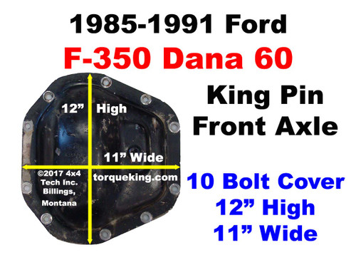 1985-1991 Ford F350 Dana 60 Front Axle Identification IDN-139