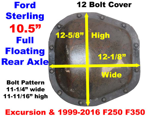 "Ford 10.5"" Rear Axle Cover ID"
