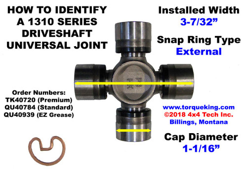 U-Joint ID Spicer 1310 Series External Snap Ring IDN-146