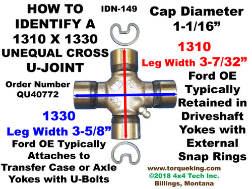 U-Joint ID Spicer 1310 x 1330 Series External Snap Ring IDN-149