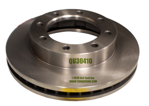 QU30410 Front Brake Rotor for DRW  Chevy, GMC, and Dodge 1 Ton 4x4s