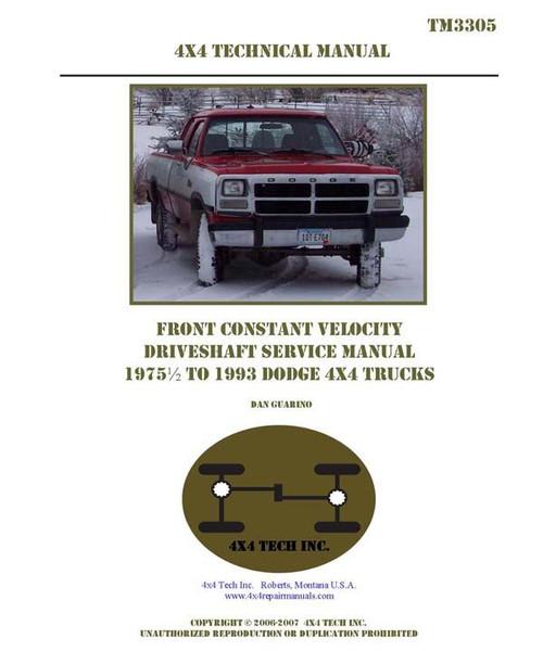 TM3305-PRINT 75.5-93 DODGE CV