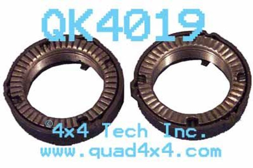 QK4019 Rear Spindle Nut Set with Ratchet Style Spindle Nuts