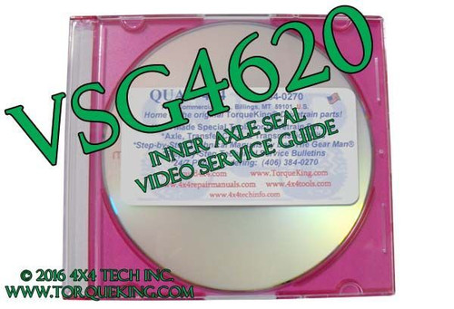 VSG4620 Inner Axle Seal Video Service Guide DVD