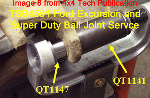TSB4591 4x4 Ball Joint Replacement Tech Service Bulletin for Ford