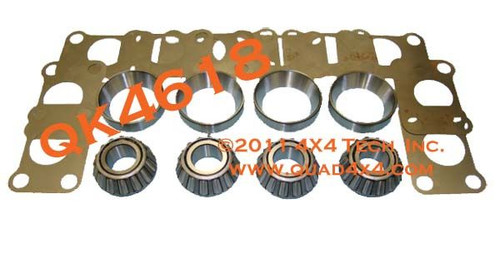 QK4618 Dana 44HD, Dana 60, Dana 70 Large Closed Knuckle Front Axle Bearing Kit is a direct replacement for Ford Dana 44HD and Dana 60 Closed Knuckle Front Axles, but it will also work on Chevy, Dodge, GMC, International, and Jeep