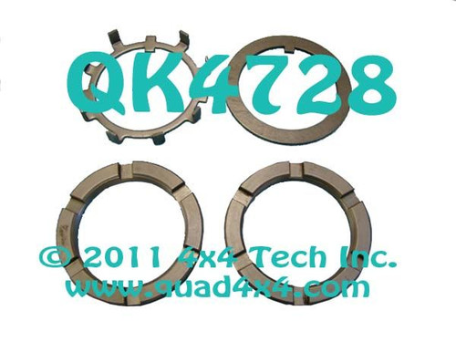 QK4728 4 Piece Spindle Nut Kit for Dana 60 Front & GM 14 Bolt Rear Axles