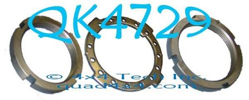 Dana 50, 60 Large Round Spindle Nut Kit QK4729
