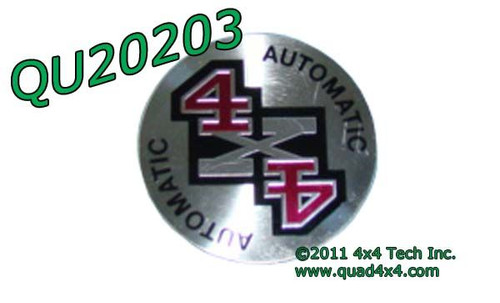 QU20203 4x4 Hub Cap Decal for 1995-1997 F250, F350 with Auto Hubs