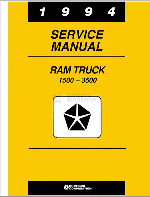 TMD94CD 1994 Complete Dodge Factory Service Manuals on CD