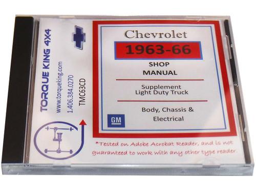 TMC63CD 1963-1966 Chevy Truck Factory Shop Manual on CD.