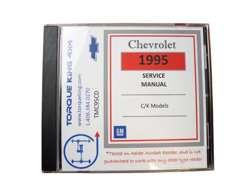TMC95CD 1995 GM Factory C/K 1500-3500 Truck Shop Manual on CD is your source for service, maintenance, and repair information for your 1995 Chevy or GMC C/K series truck.