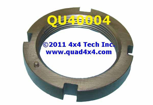 QU40004 4x4 Front 4 Slot Inner Spindle Nut with Pin Thread Size 1-5/8""