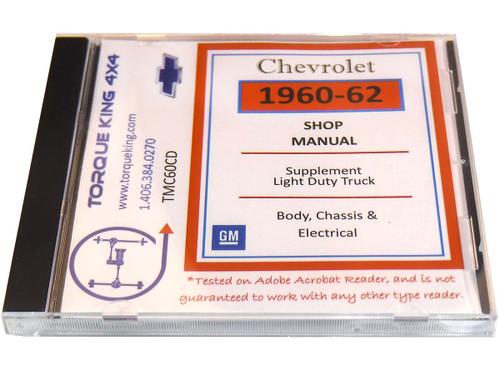 TMC60CD 1960-1962 Chevy truck Factory Shop Manual on CD