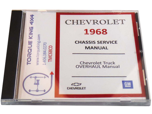 TMC68CD 1968 GM Factory C/K Truck Service Manual on CD