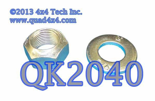 QK2040 NP203, NP205GM Transfer Case Front Output Nut & Washer Set