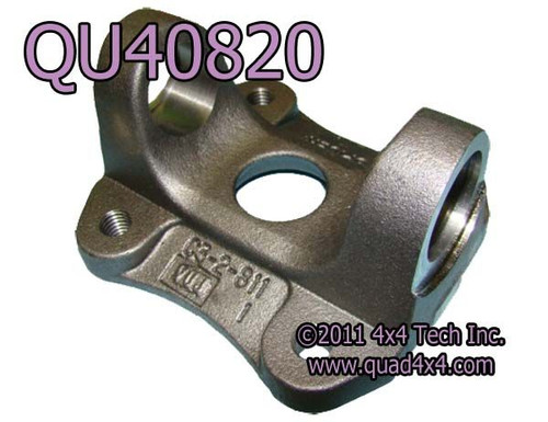 """QU40820 1410 Series Rear Flange Yoke with 2-11/16"""" Pilot for Ford"""