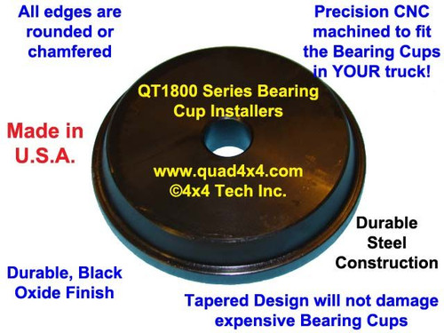 QT1813 Knuckle Bearing or King Pin Bearing Cup Installer for Dana 44HD, 60, 70