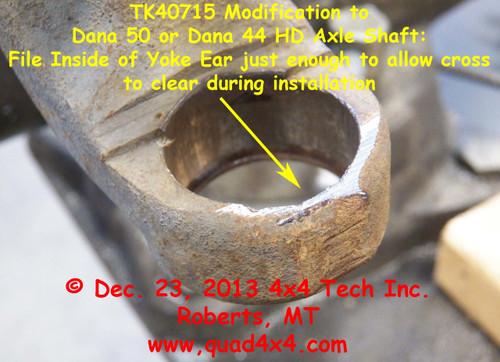Axle Yoke Modification