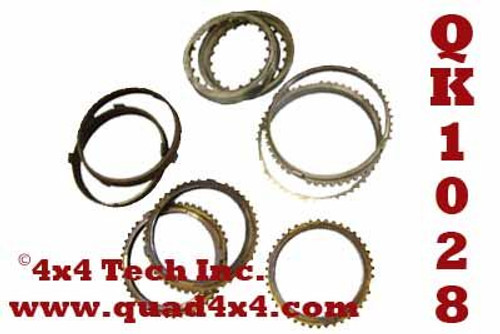 QA1028 9 Piece NVG Premium Synchronizer Ring Kit for 1992-1998 GM NV4500 Transmissions without synchronized reverse gear.