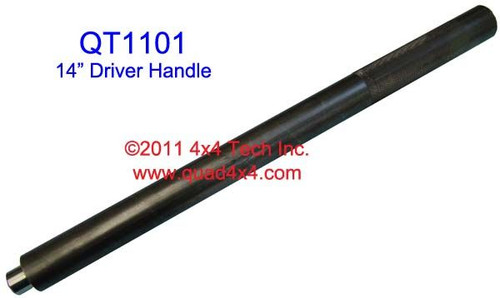 "QT1101 1"" X 14"" Driver Handle for Installers and Removers. 5/8"" Tip"