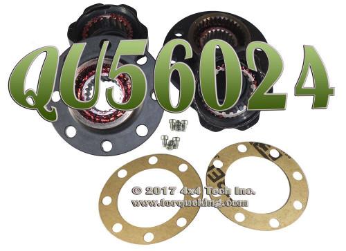 QU56024 21 Spline 8 Bolt Lock Out Hub Set for 1968-1974 Dodge Dana 70 Closed Knuckle Front Axles