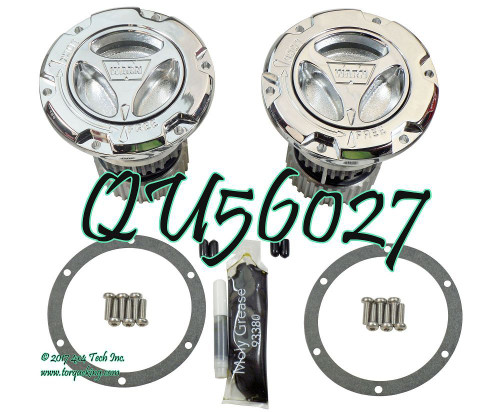 QU56027 05-UP CHROME HUB SET