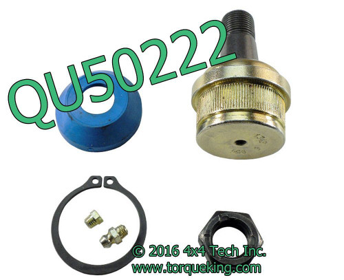 QU50222 Greasable Lower Ball Joint for Dana 30, Dana 44, GM 10 Bolt Front Axles