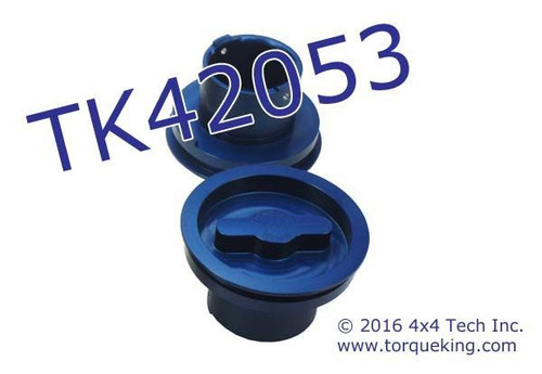 TK42053 Blue Anodized Aluminum Replacement Hub Dial for Spicer Hubs