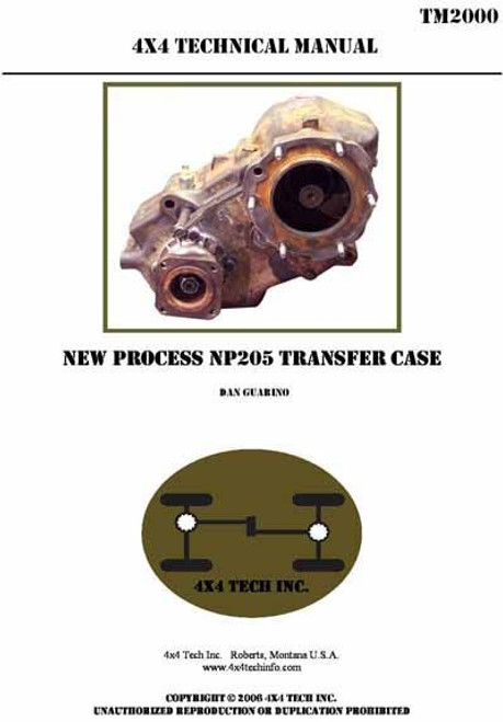 TM2000-NP205 Transfer Case Shop Manual for GM, Dodge, Ford, IHC