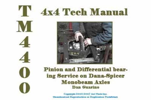 TM4400 Shop Manual Dana Axle Pinion & Differential Bearing Service