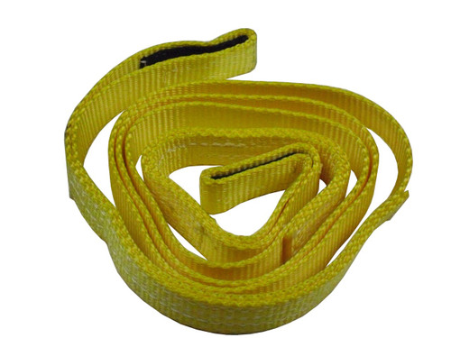 """QU56091 Mile Marker 1""""x8' ATV Recovery Strap rated to 7,200lbs with reinforced eylet on each end."""