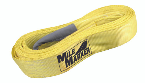 """QU56093 Mile Marker 3""""x30' Recovery/Tree Strap with 30,000lb capacity. Built in Safety Blue Lines Indicating Wear."""