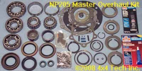 TK2029 Master NP205 Transfer Case Rebuild Kit GM with 10 Spline Input