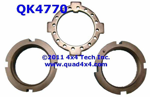 QK4770 Front 4x4 Spindle Nut and Washer Set