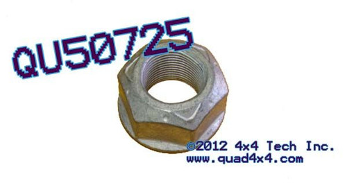 QU50725 Flanged Pinion Nut for GM 14 Bolt Rear Axles