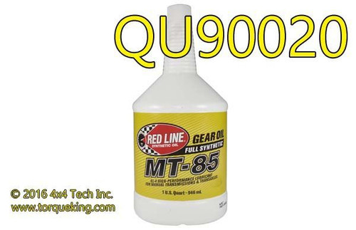 QU90020 Red Line® MT-85 75w85 Manual Transmission & Transaxle Lubricant