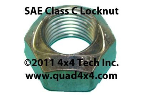 "QU95036 7/16"" Fine Thread Class C Lock Nut for Front Spindle and Universal Applications is an American Made, high-strength, All-Metal locknut compatible with Grade 8 bolts."