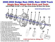 New Exploded View for 2000-2002 Ram Rear Hub