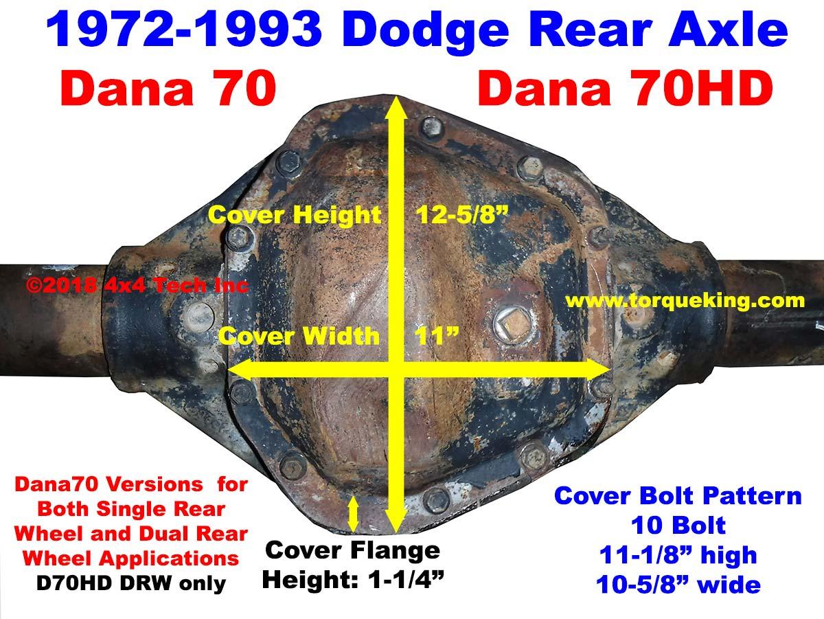 Dana 70 Parts Tools Manuals 1972 1993 Dodge Rear Axles