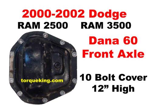 Identification Specs for 2000-2002 Dodge D60 Front Axles