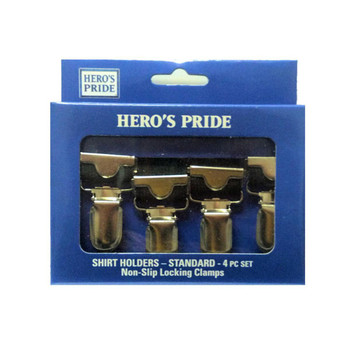 Hero's Pride Footloop Style Shirt Holders with Claw Clasp - Black