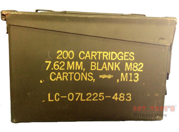 USGI METAL 30 CAL 7.62mm AMMO CAN M19A1 AMMO BOX .30 CALIBER GOOD-VG CONDITION