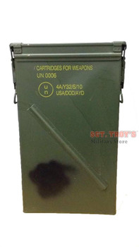 81mm Tall Ammo Can M821A2 Military Surplus Metal Can USGI EXCELLENT Condition